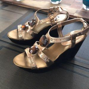 Gold Goddess Report Sandals